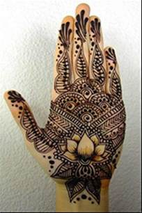 Lotus Palm Awesome Henna Mehandi Designs For Palms With Pictures
