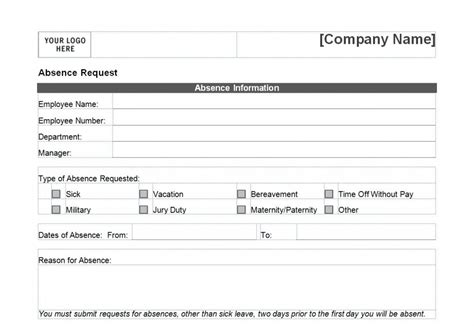 employee time off request form format edit fill sign online