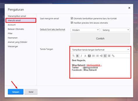 cara membuat signature yahoo mail cara membuat signature pada gmail yahoo dan outlook