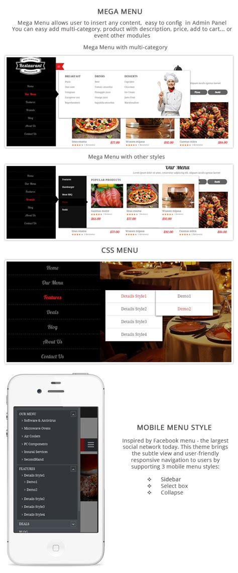 magento layout remove menu sm restaurant ready made design for magento magento