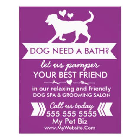 dog grooming flyers programs zazzle