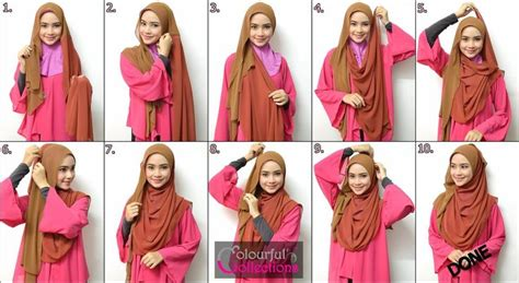 tutorial hijab pashmina panjang kreasi jilbab paris segi empat simple hairstylegalleries com