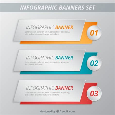 infographic banners template pack vector premium download