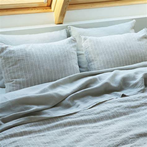 White Linen Quilt Cover by Multistripe White Linen Duvet Cover By Linenme