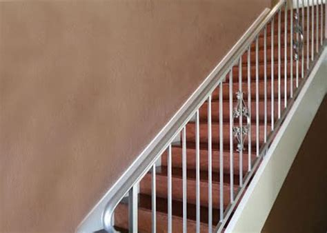 Silver Handrails For Stairs Ba Ramirez Iron Works Gallery Wrought Iron Stair