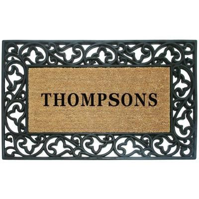Personalized Coir Door Mats creative accents acanthus border 30 in x 48 in rubber