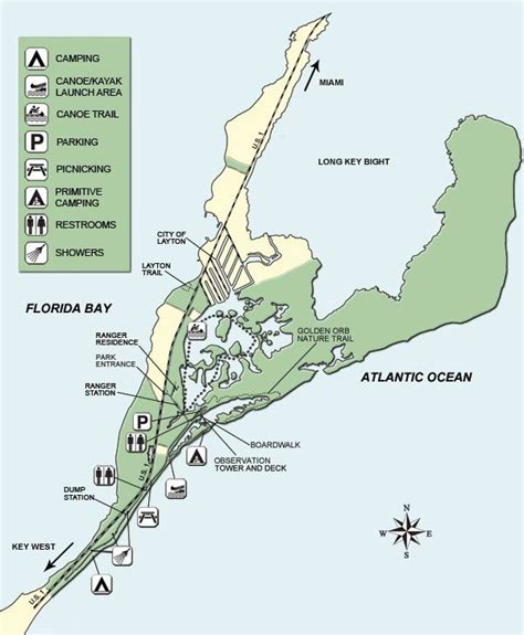 florida cground map map of key state park cing by vacation