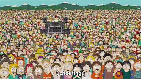gif south park crowd people animated gif  gifer  kara