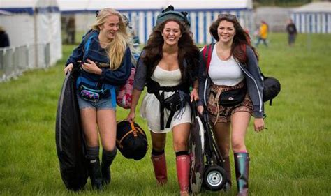 Vs Set Sazkia festival goers all set for glastonbury mudbath with