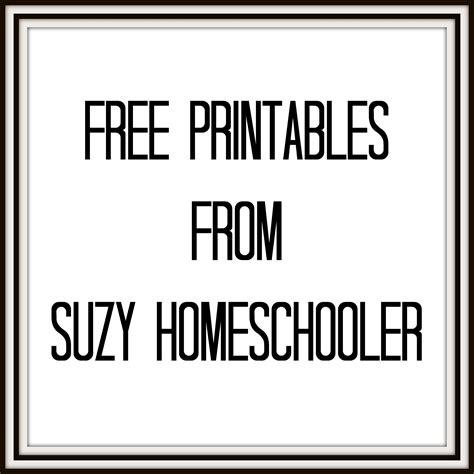 free printable images free printables suzy homeschooler