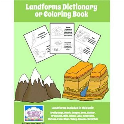 coloring book dictionary 47 best images about landforms on definitions