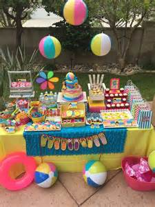 Summer Party Decorations by Swimming Pool Summer Party Summer Party Ideas Photo 1 Of