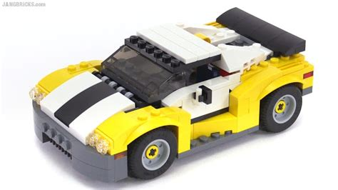 Lego Creator 3 In 1 31046 Fast Car Set Motorcar Truck Forklift Tractor lego creator 2016 fast car all 3 builds reviewed set 31046