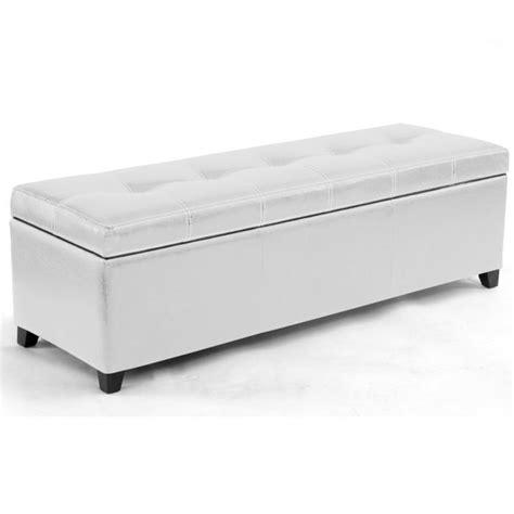 but banc coffre banc de lit coffre blanc