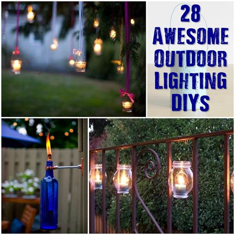 awesome lighting 28 awesome outdoor lighting diys