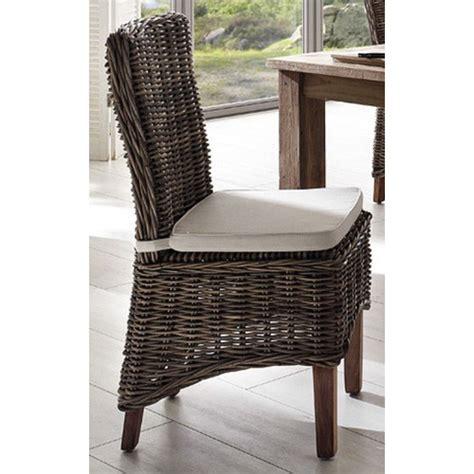 kubu rattan dining chairs halifax morin kubu rattan dining chair with cushion zizo