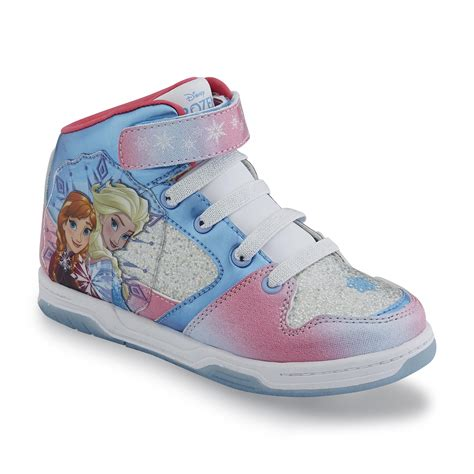 shoes for toddlers disney toddler s frozen blue pink high top athletic shoe