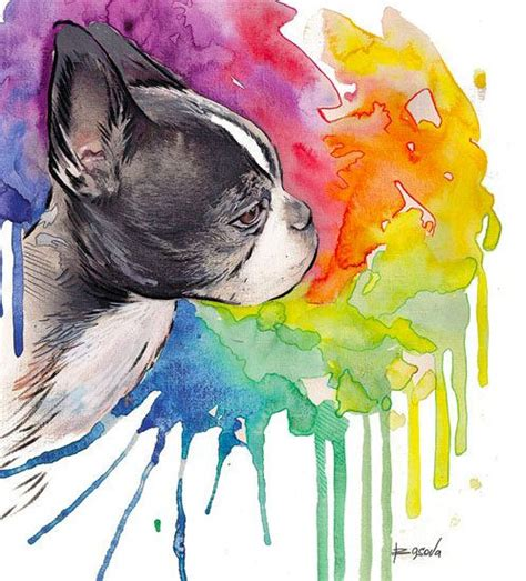watercolor tattoo boston 17 best ideas about boston terrier on