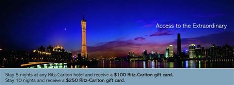 Ritz Gift Card - ritz carlton rewards 100 gift card after 5 nights march 15 june 30 2011 loyalty