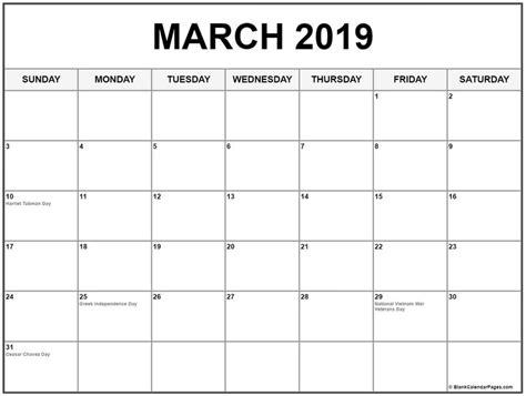 march  calendar  usa holidays  march  calendar pinterest calendar