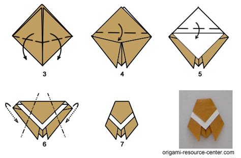 Origami Cicada - traditional origami cicada