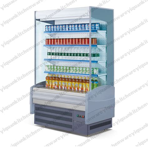 air curtain refrigerator supermarket front open display refrigerator with air
