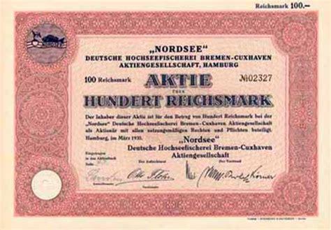 deutsche bank cuxhaven hwph ag historische wertpapiere quot nordsee quot deutsche