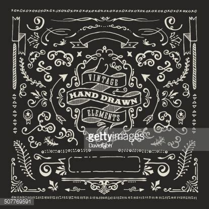 blackboard pattern hand dawn blackboard design elements vector art getty images