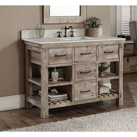 rustic bathroom vanities home combo