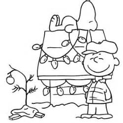 Charlie brown christmas coloring pages on peanuts coloring pages