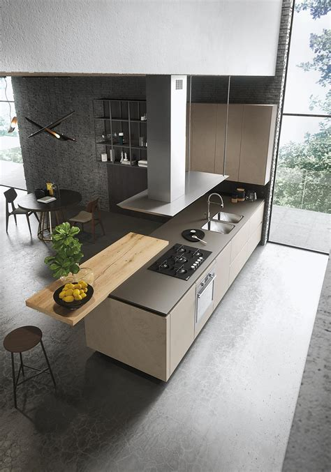cucine moderne snaidero look cucina in legno collezione sistema by snaidero design