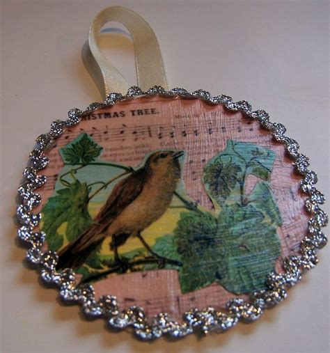 Decoupage Ornament - 298 best crafty decoupage images on home diy
