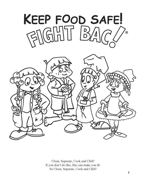 coloring pages for food safety 1000 images about food safety for kids on pinterest