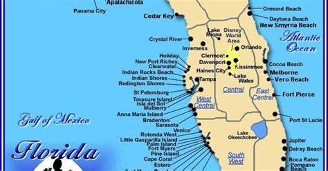 florida beaches gulf coast map map of central florida gulf coast search places