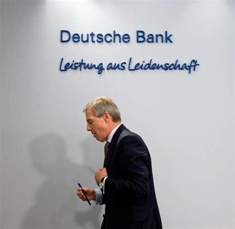 chef der deutschen bank deutsche bank chef drohender prozess bringt fitschen in