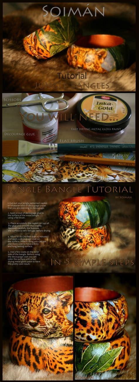 tutorial decoupage pinterest diy jungle bangle decoupage tutorial decorative painting