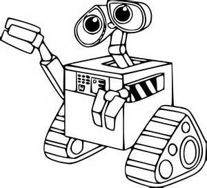 coloriage robot wall e 224 imprimer sur coloriages info