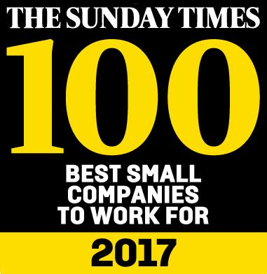 sunday times careers section profile is one of the best 100 small companies to work for