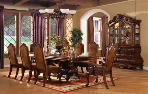 furniture brown varnish wooden dining table sets with luxury dining room sets sale varnish block board side