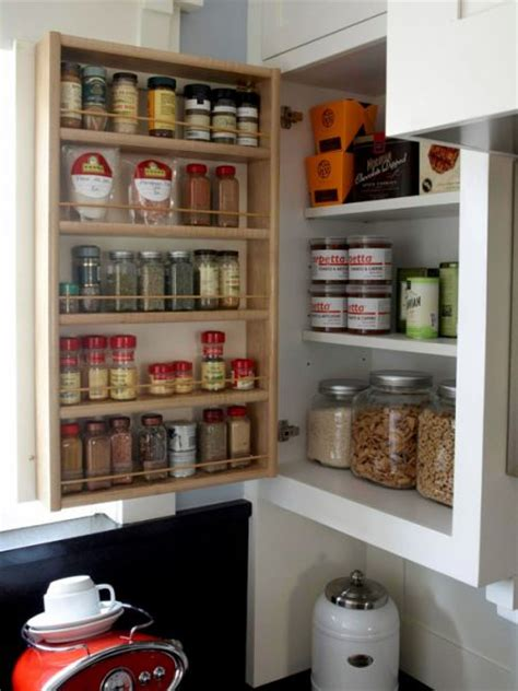 diy inside cabinet spice rack remodelaholic how to build a space saving spice cabinet