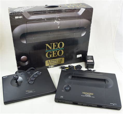 neogeo console neo geo aes console system boxed neogeo snk ref 201987