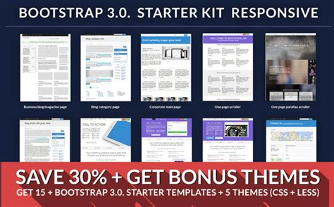 bootstrap starter template bootstrap starter responsive kit website templates on