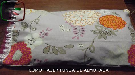 fundas para almohadas diy como hacer funda de almohada