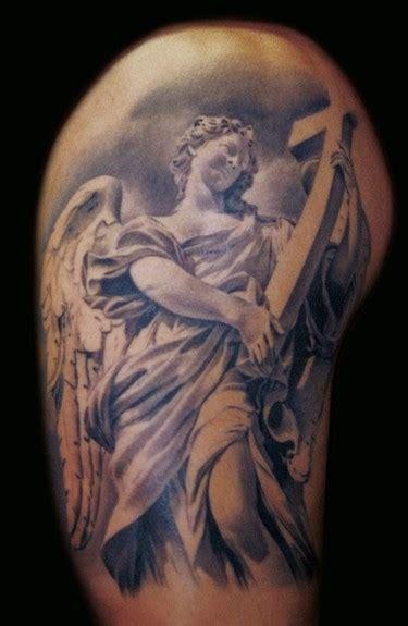 angel half sleeve tattoo cat tattoos half sleeve