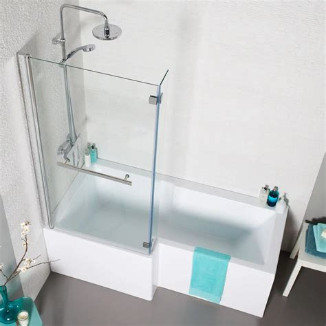 1500mm l shaped shower bath prestige tetris l shaped bath bat045te 1500mm x 700mm 850mm acrylic