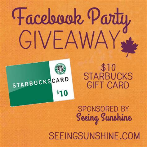 Starbucks Gift Card Via Facebook - starbucks gift card giveaway seeing sunshine
