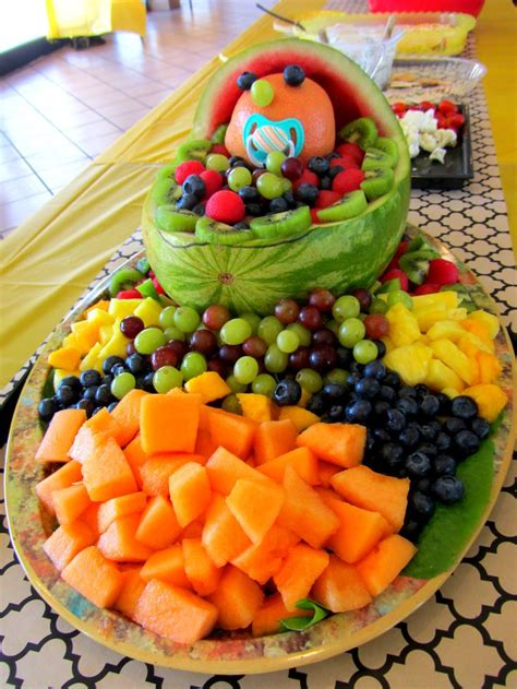 Baby Shower Fruit Tray by You Should Easy Way To Baby Shower Fruit