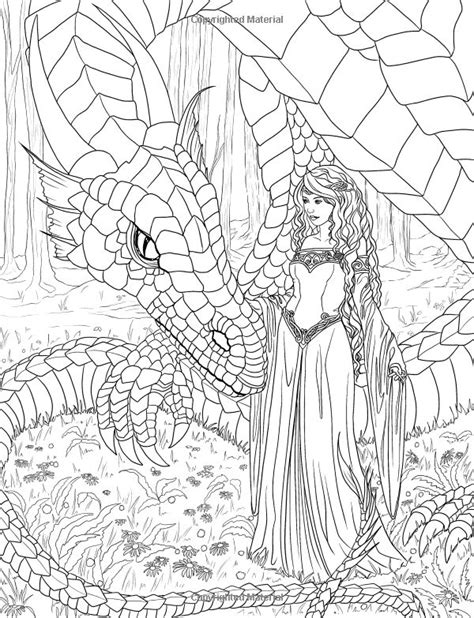 elf coloring pages for adults artist selina fenech fantasy myth mythical mystical legend