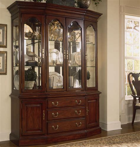 china cabinet glass doors cherry grove 45th canted glass door china cabinet by