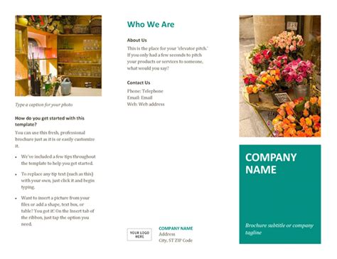 word template for brochure brochure office templates
